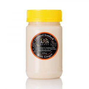 Australian creamed honey with ginger