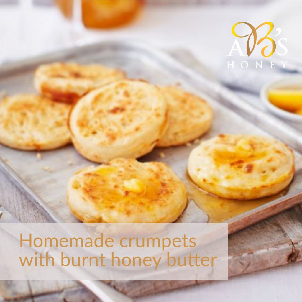 Homemade Crumpet Recipe with Burnt Honey Butter