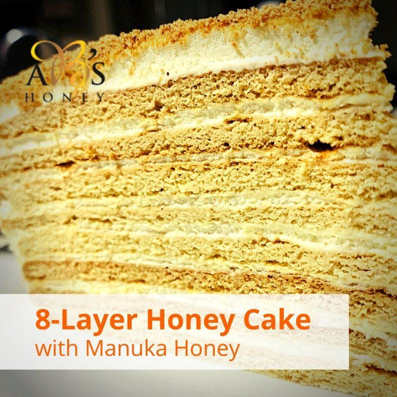 8-Layer Honey Cake Recipe - with Manuka Honey
