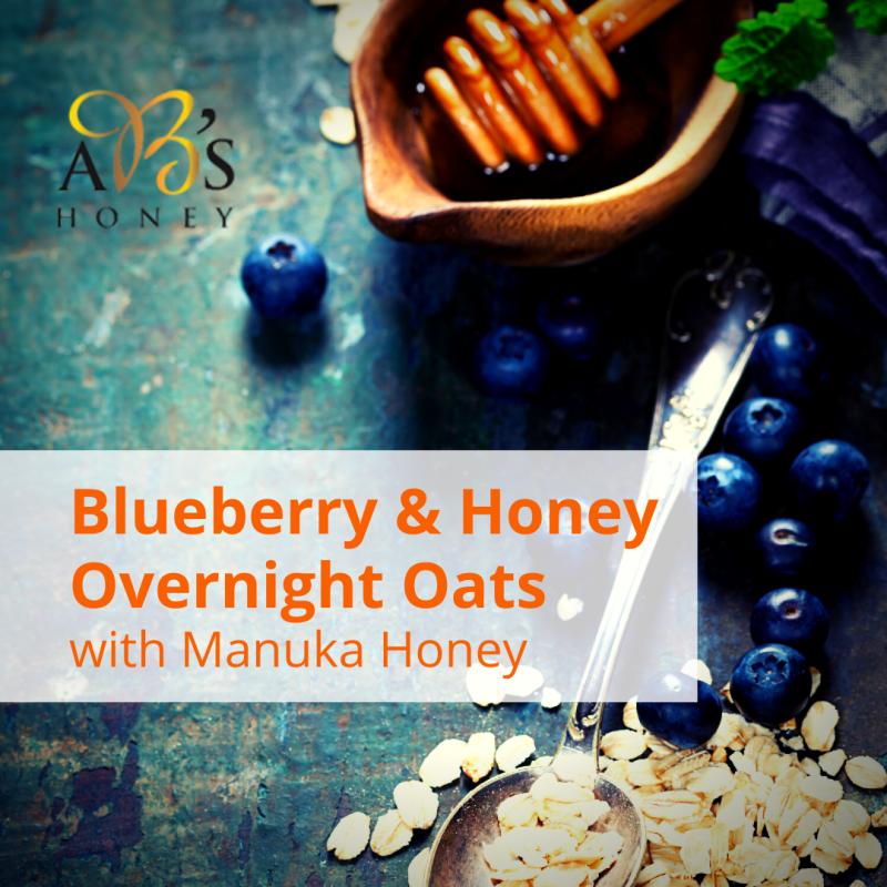 Blueberry and Manuka Honey Overnight Oats recipe