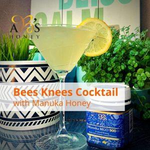 Bees Knees Cocktail with Manuka Honey Recipe