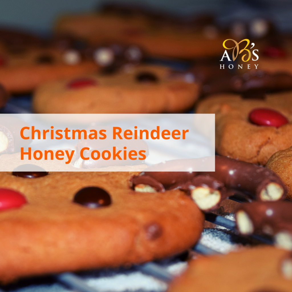 Christmas Reindeer Honey Cookies