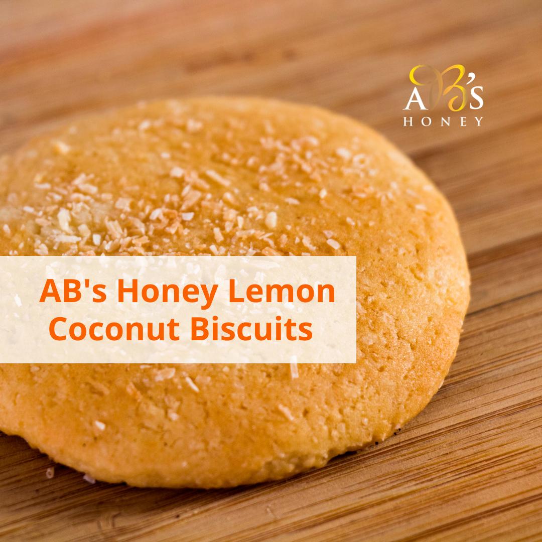 AB's Honey Lemon Coconut Biscuits